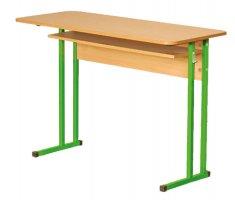 Стол школьный лабораторный (для химии) с пластиковой столешницей (0128)