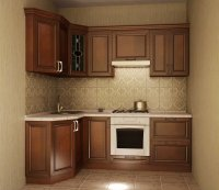 Кухня угловая Сильвия. Готовый вариант 4