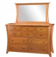Фото - Комод деревянный с зеркалом КЗ-4
