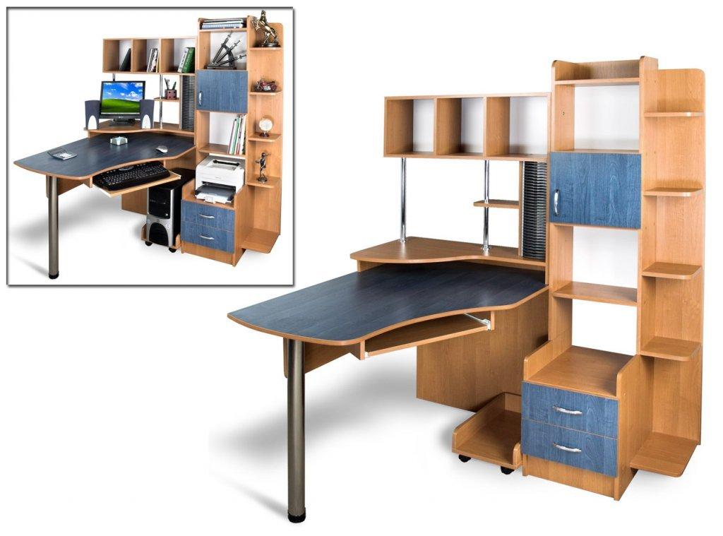Угловой компьютерный стол Эксклюзив - 3