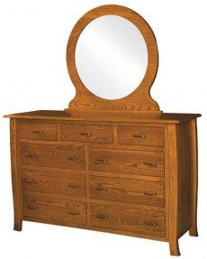 Комод деревянный с зеркалом КЗ-3