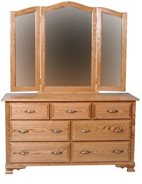 Фото - Комод деревянный с зеркалом КЗ-1