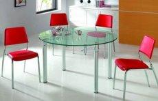 Фото - Стол кухонный стеклянный круглый SA-5103B