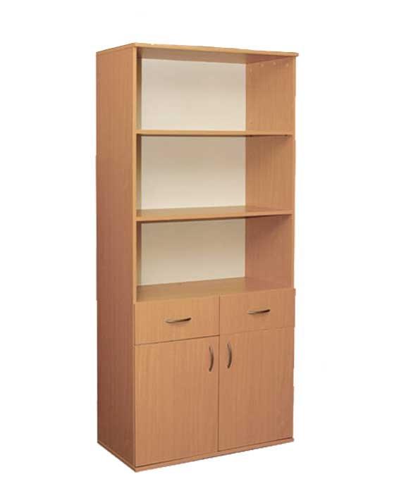 Фото - Шкаф книжный с 2 ящиками и 2 дверцами (0640)