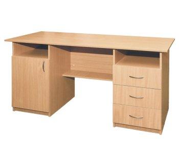 Фото - Стол письменный, 1-дверный, с тремя ящиками
