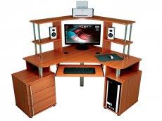 Фото - Угловые компьютерные столы С-870 с надстройкой 822
