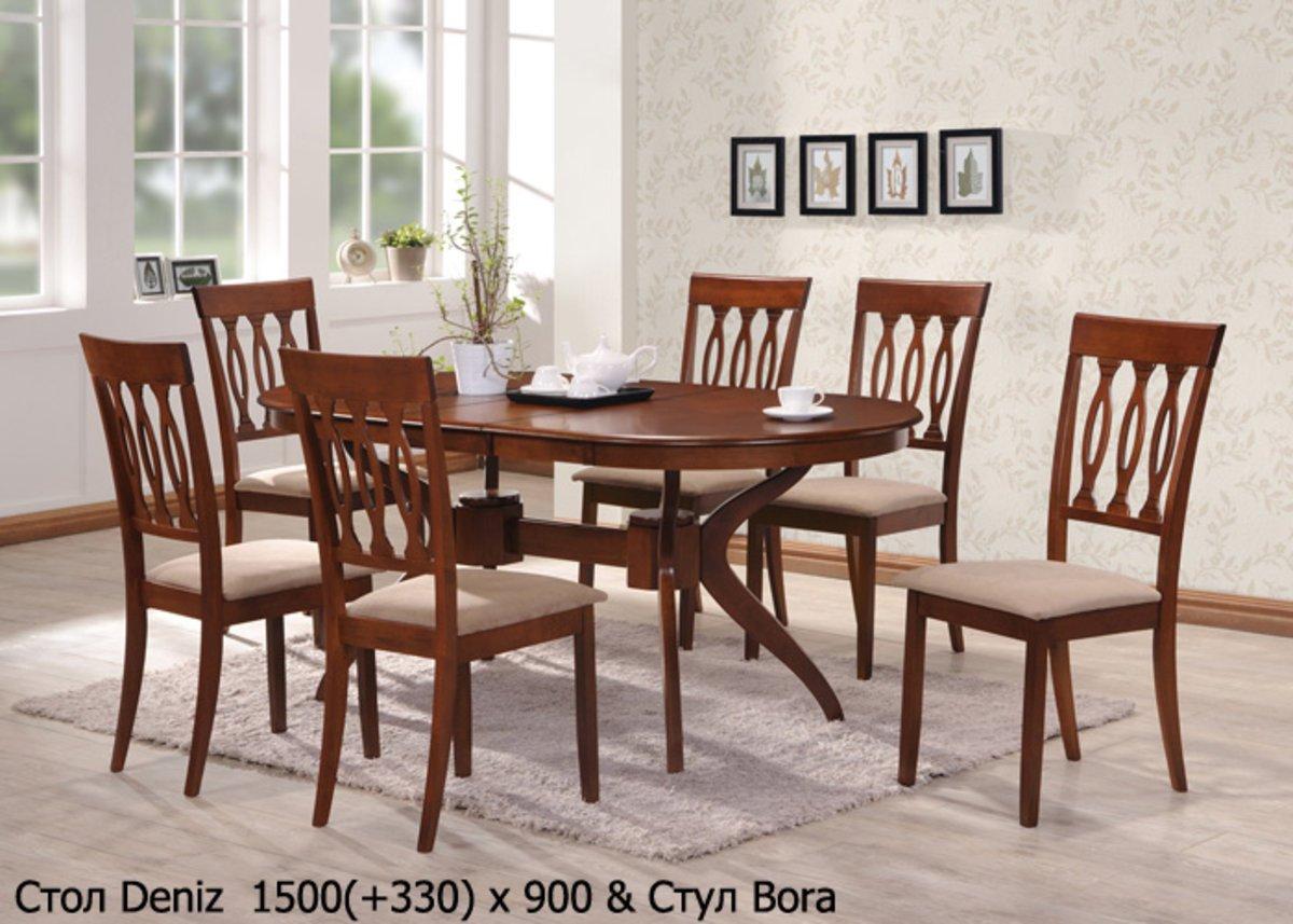 Фото - Стол Deniz 1.5м и стулья Bora