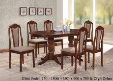 Стол Fedel и стулья Orhan