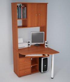 Угловой компьютерный стол С825 - кальвадос