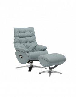 Кресло-реклайнер ALPHA 136 кожаное
