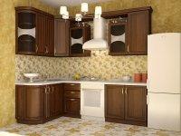 Кухня угловая Флора. Готовый вариант 3