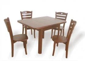 Стол Марго и стулья Стивен