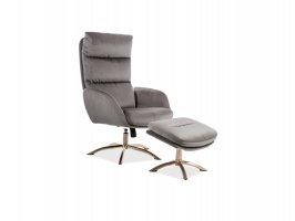 Кресло Monroe Velvet, с подставкой для ног