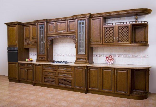 Фото - Lis-2 (Кухня №2, ясень, цвет №2432 с коричневой патиной)