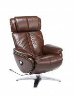 Кресло-реклайнер ALPHA 129, кожаное