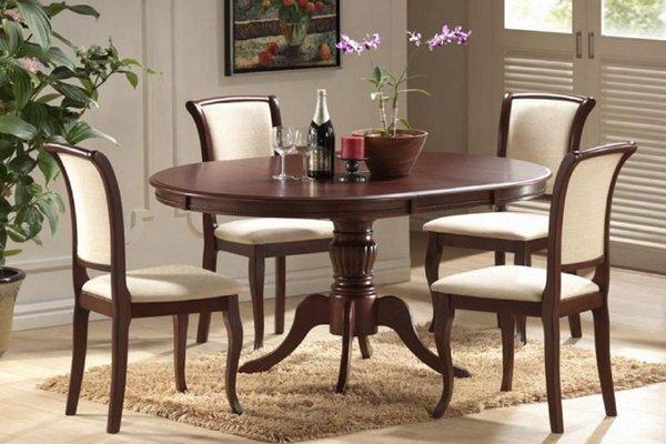 Фото - Стол со стульями: стол Анжелика (1м) + 4 стула Джил