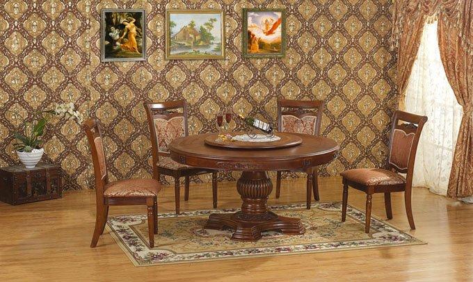 Большой круглый стол для гостиной