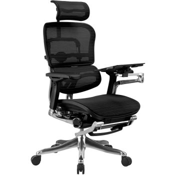 Фото - Сетчатое компьютерное кресло ERGOHUMAN PLUS с раскладной подставкой для ног.
