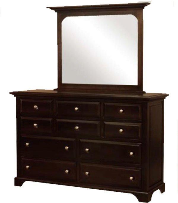 Фото - Комод деревянный с зеркалом КЗ-6