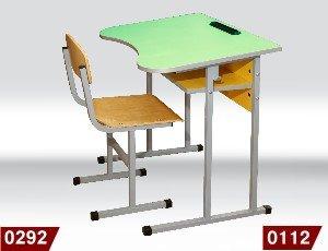 Фото - Стол ученический 0112 и стул Т-образный 0292
