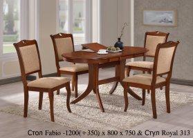 Кухонный комплект стол Fabio и стулья Royal