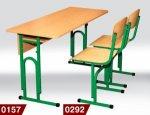 Стол ученический 0157 + стул Т-образный 0292