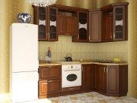 Кухня угловая Флора. Готовый вариант 4