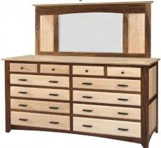 Фото - Комод деревянный с зеркалом КЗ-2