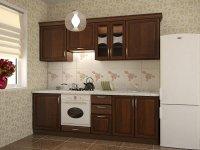 Кухня прямая Флора. Готовый вариант 1