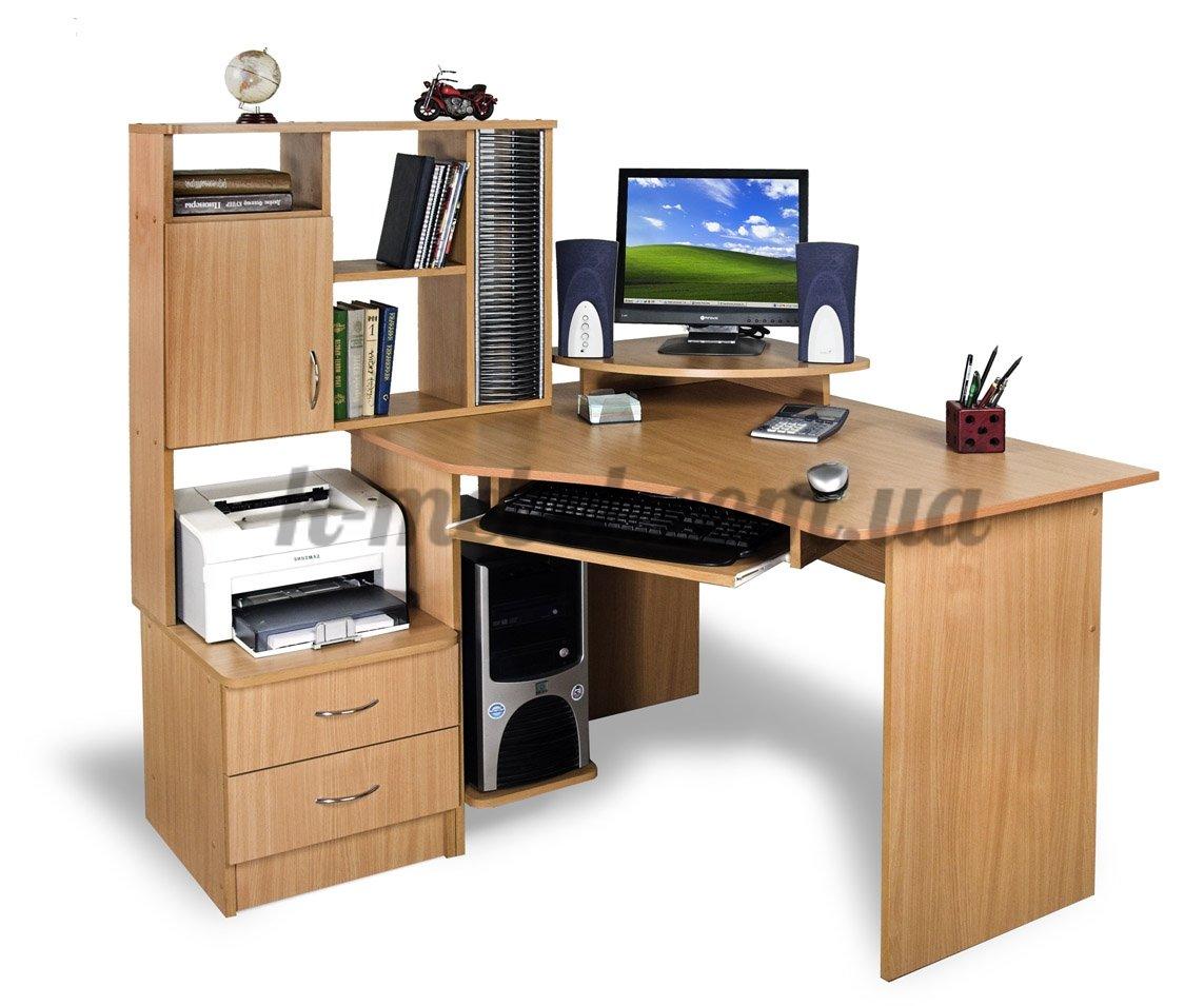 Фото - Угловой компьютерный стол Эксклюзив - 1
