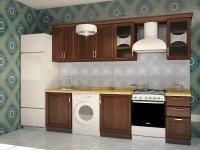 Кухня прямая Флора. Готовый вариант 2