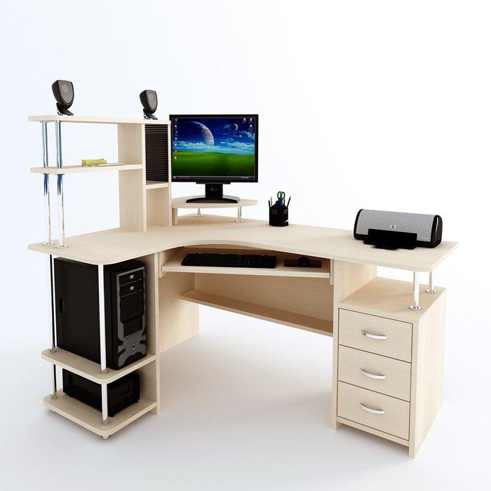 Фото - Угловой компьютерный стол  С 224