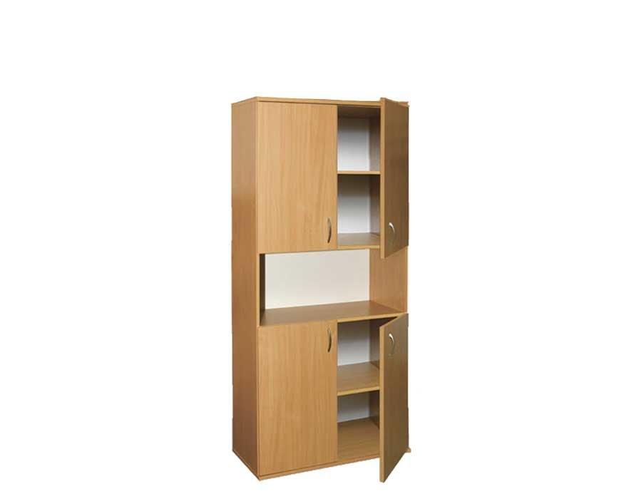 Фото - Шкаф книжный полузакрытый 4-дверный (0633)