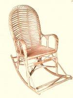 Кресло качалка из лозы КК-7