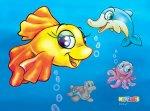Коврик под кресло К1-8920(Рыбка)