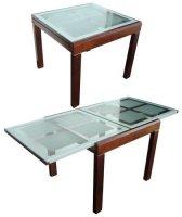 Стол обеденный дерево+стекло BT-31020