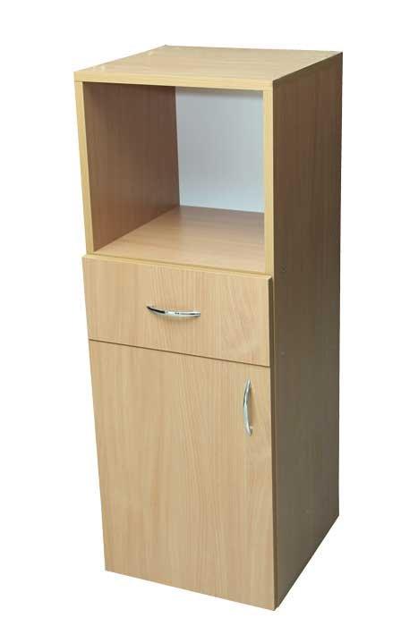 Фото - Пенал низкий с дверью, ящиком и нишей (29915)