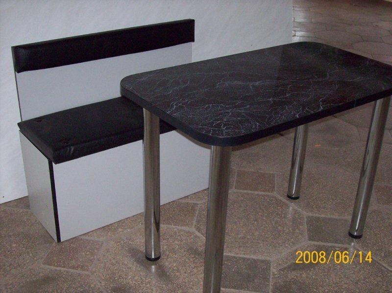 Фото - Кухонный стол с хромированными ножками