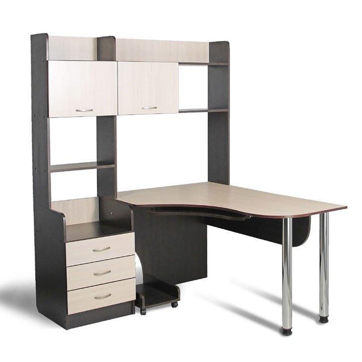 угловые компьютерные столы с надставкой фото
