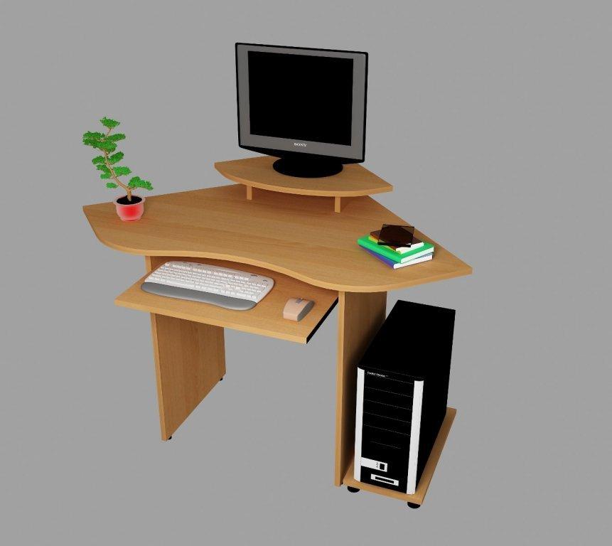 компьютерный стол С546 - Ольха