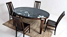 Фото - Стеклянный стол Ohio и стулья Davos