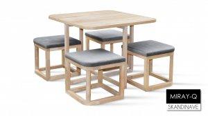 Стол и стулья Мирайя Q