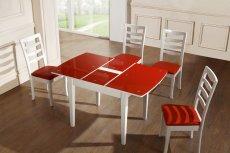 Стол Гвен (красное стекло)