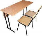 Школьная парта и 2 стула