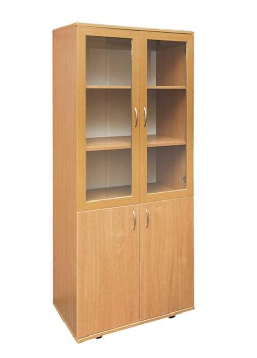 Шкаф книжный со стеклом - к-мебель. цена, купить недорого в .