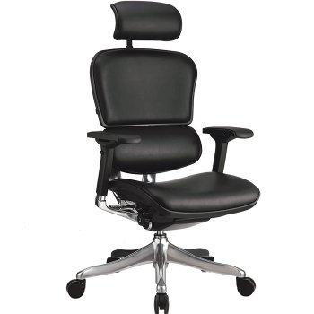 Фото - Кожаное компьютерное кресло ERGOHUMAN PLUS