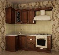 Кухня угловая Сильвия. Готовый вариант 3