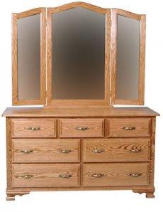 Комод деревянный с зеркалом КЗ-1