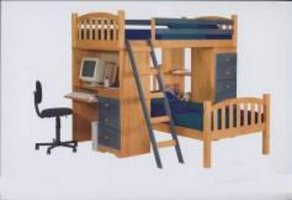 Кроватка детская двухъярусная ДПЛ-12