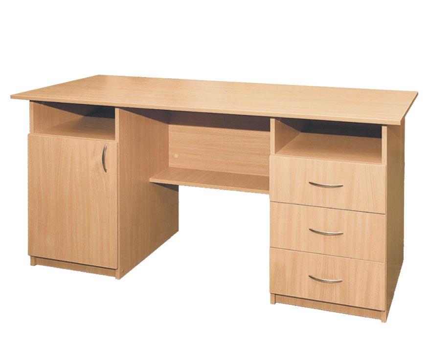 Фото - Стол письменный, 1-дверный, с тремя ящиками (4104)
